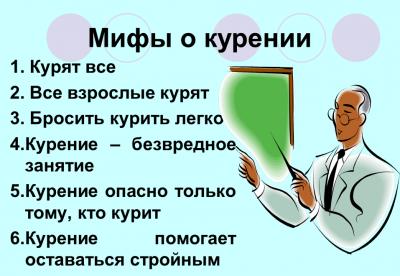 Мифы о пользе курения