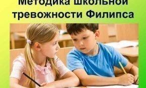 Диагностика уровня школьной тревожности по методике Филлипса